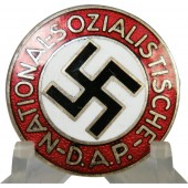 Very early NSDAP member badge. Mint, Pre RZM. Fully silvered