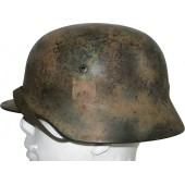 M35 NS 64 Normandy camo helmet. Attic found in France helmet