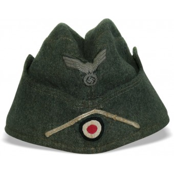 M38 Wehrmacht Infantry side hat with white soutache. Espenlaub militaria