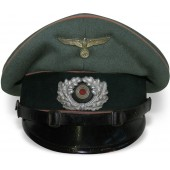 3rd Reich Panzer NCO visor hat, salty condition
