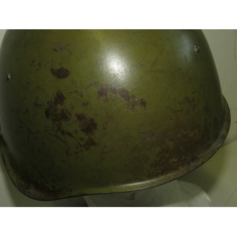 Soviet Russian Ssch-39 steel helmet with early Italian style oilcloth liner. Espenlaub militaria