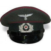 Wehrmacht Heer HQ or Veterinary service visor hat, early by Peküro