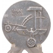 3rd Reich 1936 1 Mai commemorative badge. International workers day