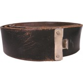 Black leather waist belt of one of N.S.D.A.P. formation. Length 95 cm