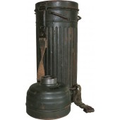 German gas mask canister and filter.