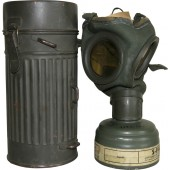 German gas mask M30 with a canister for civil defense