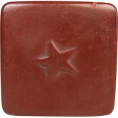Red Army Issue box for tooth powder made from brown celluloid
