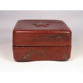 Red Army Issue box for tooth powder made from brown celluloid. Espenlaub militaria