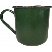 RKKA soldier ww2 mug, enameled. LMZ.