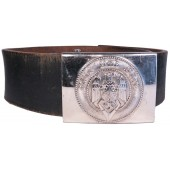 Leather belt Hitler Youth. 85 cm long. Marked M 4/27 RZM