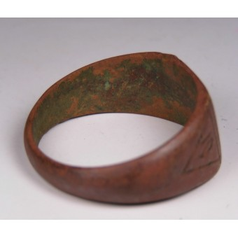 Trench-made SS ring Nordfront 1943. Espenlaub militaria