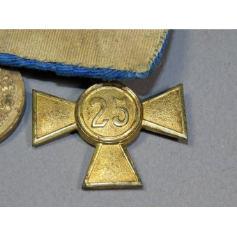 25 &12 years faithful service in the Wehrmacht cross and medal. Espenlaub militaria
