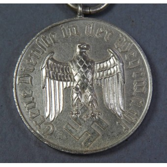 4 year of faithful service in the Wehrmacht medal, Luftwaffe version.. Espenlaub militaria