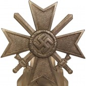 "Kriegsverdienst cross KVK with swords, 1st class.  ""3"""