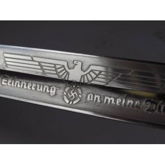 KS 98 Ersatz bayonet for ceremony and parade, etched. Espenlaub militaria