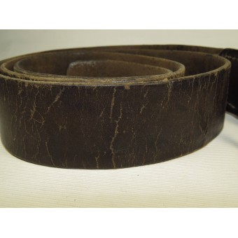 Leather belt, late type Imperial Russian or early Soviet example. Espenlaub militaria
