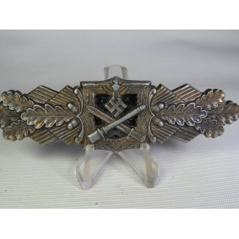 Nahkampfspange/ Close combat clasp in Bronze by F&BL. Espenlaub militaria