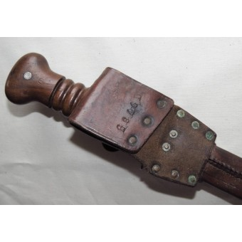 Nederland-Trench ww2  knife with leather scabbard.. Espenlaub militaria