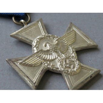 Silver class cross for  18 years of faithful service in the Polizei. Espenlaub militaria