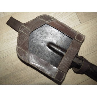 Soviet early M 38 leather cover and entrenching tool. Espenlaub militaria