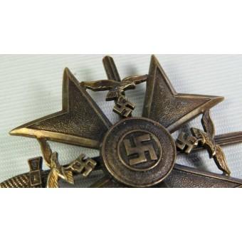 Spanish cross in bronze with swords. Espenlaub militaria