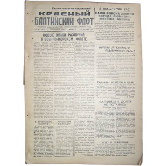 WW 2 Red Baltic Fleet newspaper, 20 February/1943. Espenlaub militaria