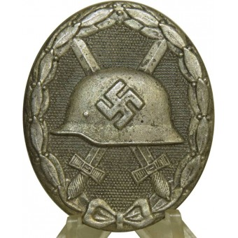 WW2 German Wound badge in silver. Espenlaub militaria