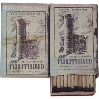 WW2 period Estonian made matches for German troops. Espenlaub militaria