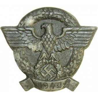 3rd Reich, badge devoted to the Police Day, 1942. Espenlaub militaria