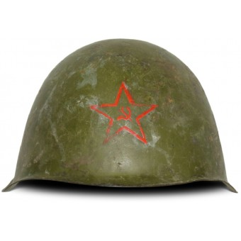 Russian Helmet SSh-39 without a liner. Manufactured in 1941 with red star. Espenlaub militaria
