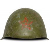 Russian Helmet SSh-39 without a liner. Manufactured in 1941 with red star