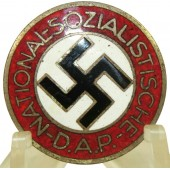 NSDAP Party Badge RZM M1/105 - Hermann Aurich, Dresden.
