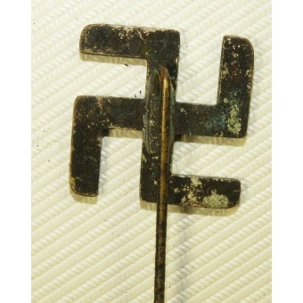 Pre-ww2 period made pin with horizontal blue enameled swastika.. Espenlaub militaria
