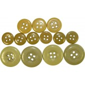 SS or Wehrmacht set of ceramic selfpropelled gun wrap's buttons