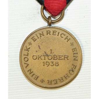 The 1 October 1938 Commemorative Medal, Medaille zur Erinnerung an den 1. Oktober 1938