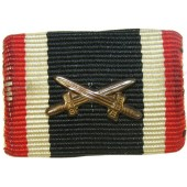 The War Merit 2nd class with swords ribbon bar. KVK2 ribbon bar.