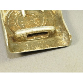 Wehrmacht aluminum buckle with traces of combat use