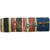 Wehrmacht ribbon bar for 4 awards.