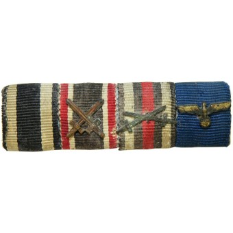 Wehrmacht ribbon bar for 4 awards.. Espenlaub militaria