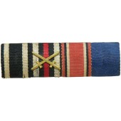 WWI veteran ribbon bar for 4 awards