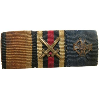 WWI and WWII German ribbon bar. Espenlaub militaria