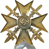 The Spanish Cross in Gold with swords by Junker