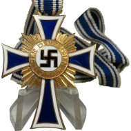 WW2 German mother cross in gold with original ribbon