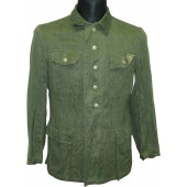 Combat M 43 Drillich Wehrmacht tunic without any insignia