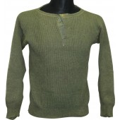 German sweater- pullover with open neck type closure with buttons