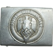 HJ aluminum belt buckle with motto Blut und Ehre. M4/44 RZM