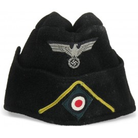 WWII German Wehrmacht Panzer Side Cap for Signals Personnel