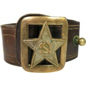 Soviet leather belt M35 for commanders