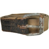 Soviet wartime canvas  soldier belt.