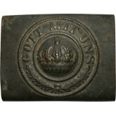 "WW1 Prussian M 1915 steel belt buckle-""Gott mit uns"""
